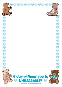 Teddy Bear Border Free Wallpaper